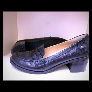 Nine West leather heeled loafers